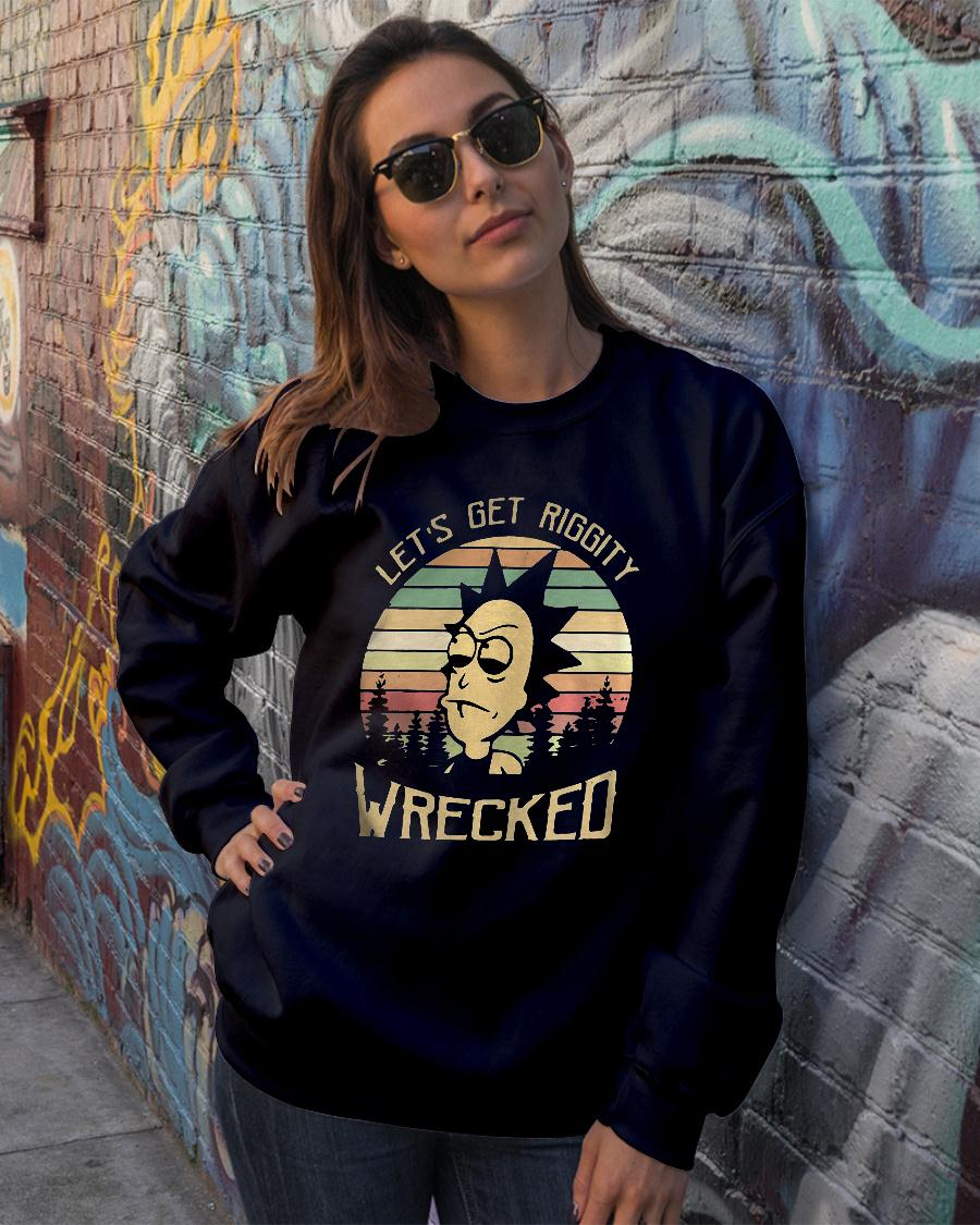 Rick Let's Riggity wrecked sunset vintage Shirt sweater official