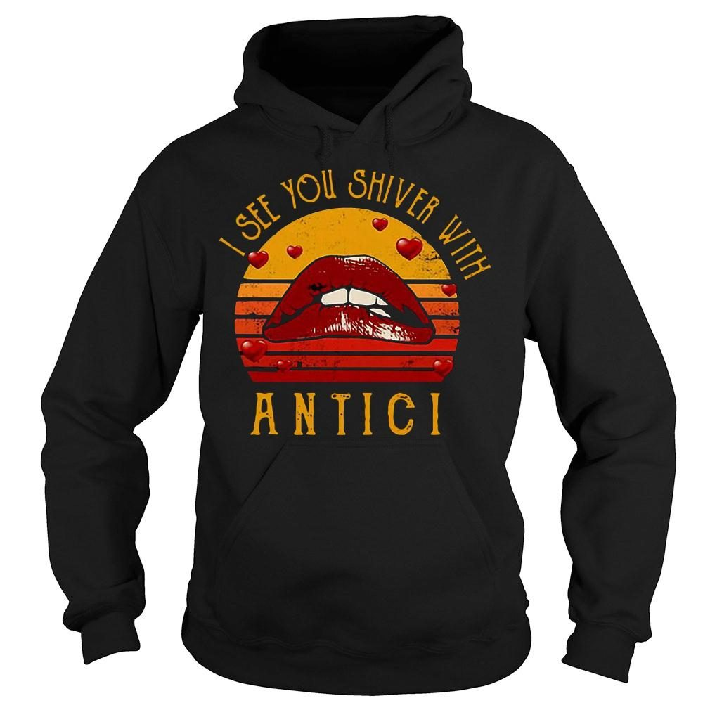 Rocky horror lips i see you shiver with antici retro vintage shirt hoodie