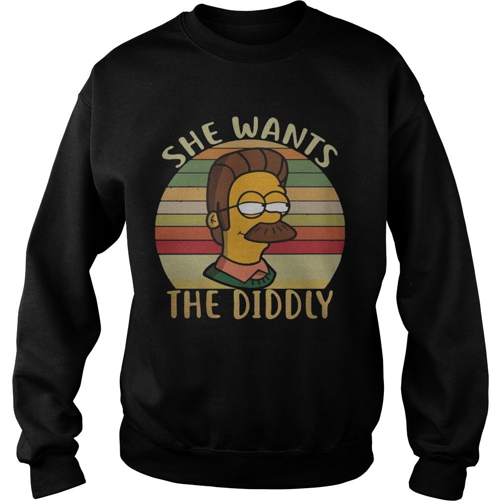 She wants the diddly vintage shirt sweater
