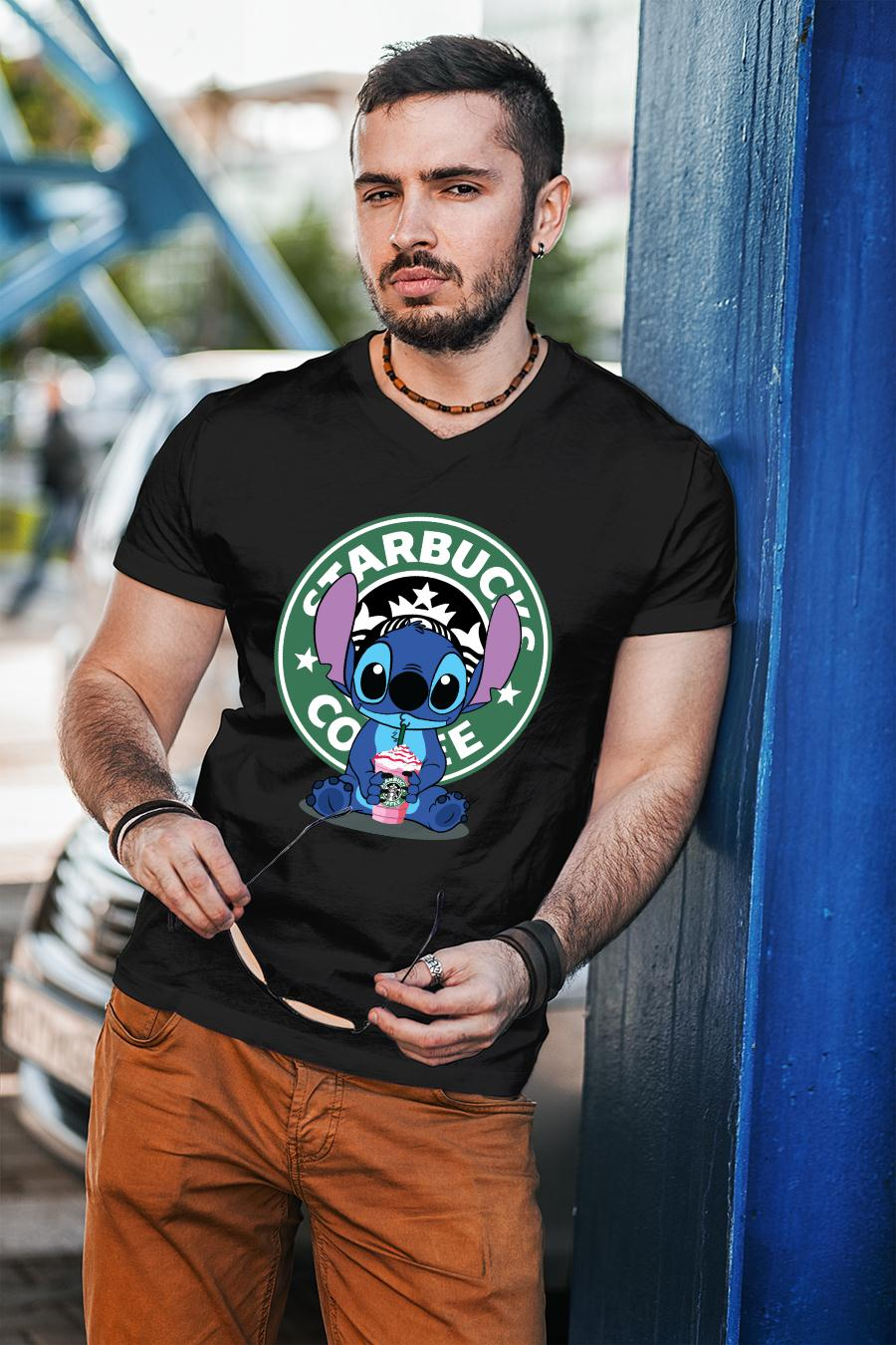 Stitch Starbucks coffee shirt unisex