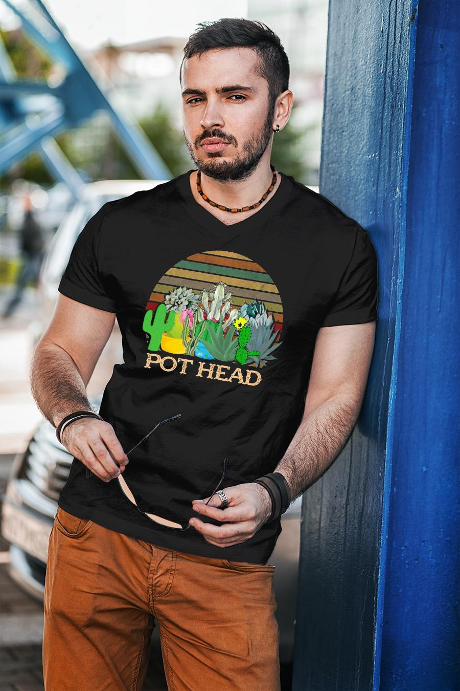 Succulent Plants Pot Head Vintage shirt unisex