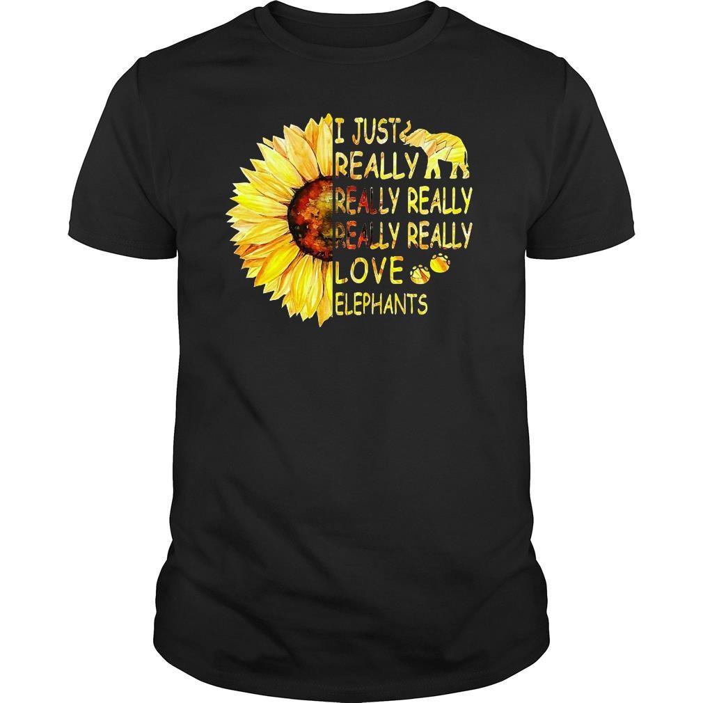 Sunflower trend I just really really really really really love elephants shirt