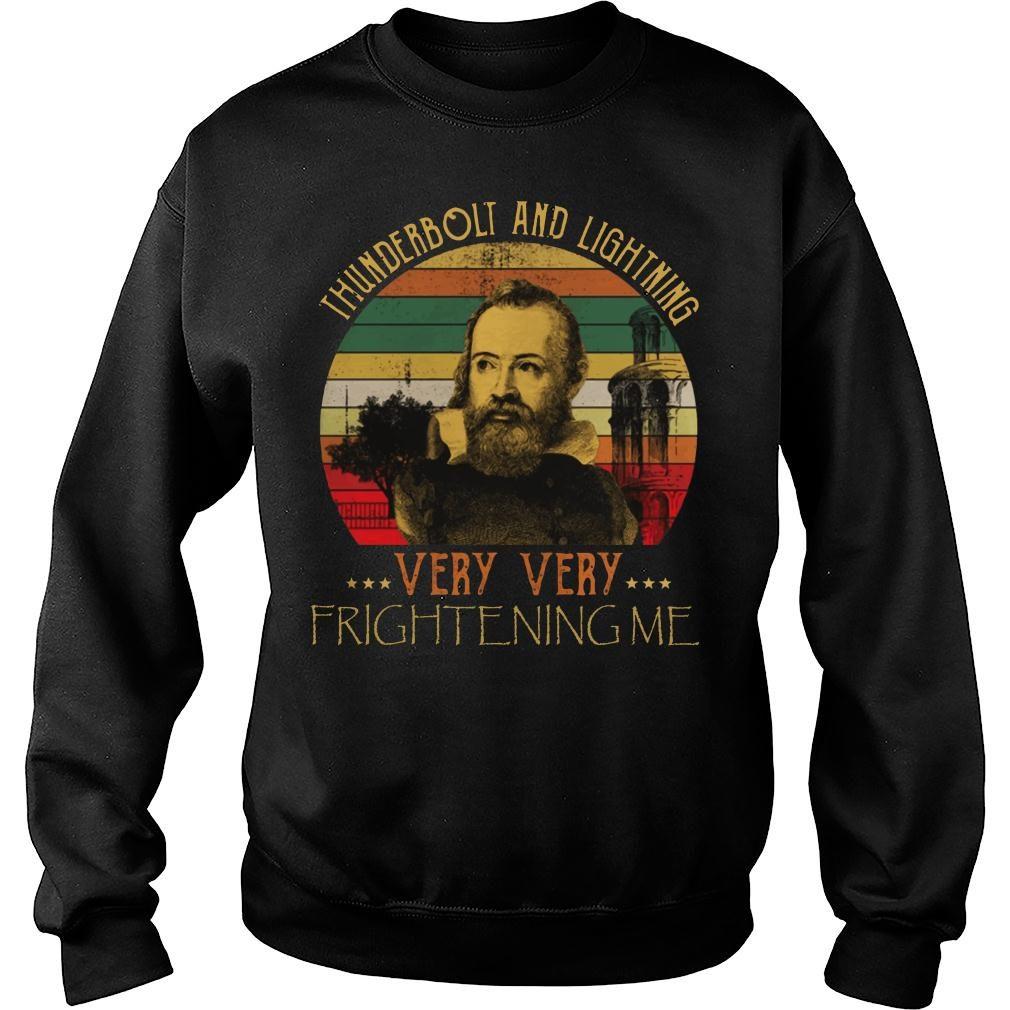Thunderbolt lightning Galileo Science Astronomy shirt sweater