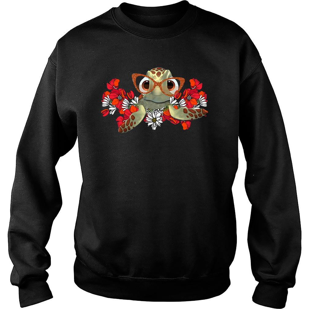 Turtle flower shirt sweater