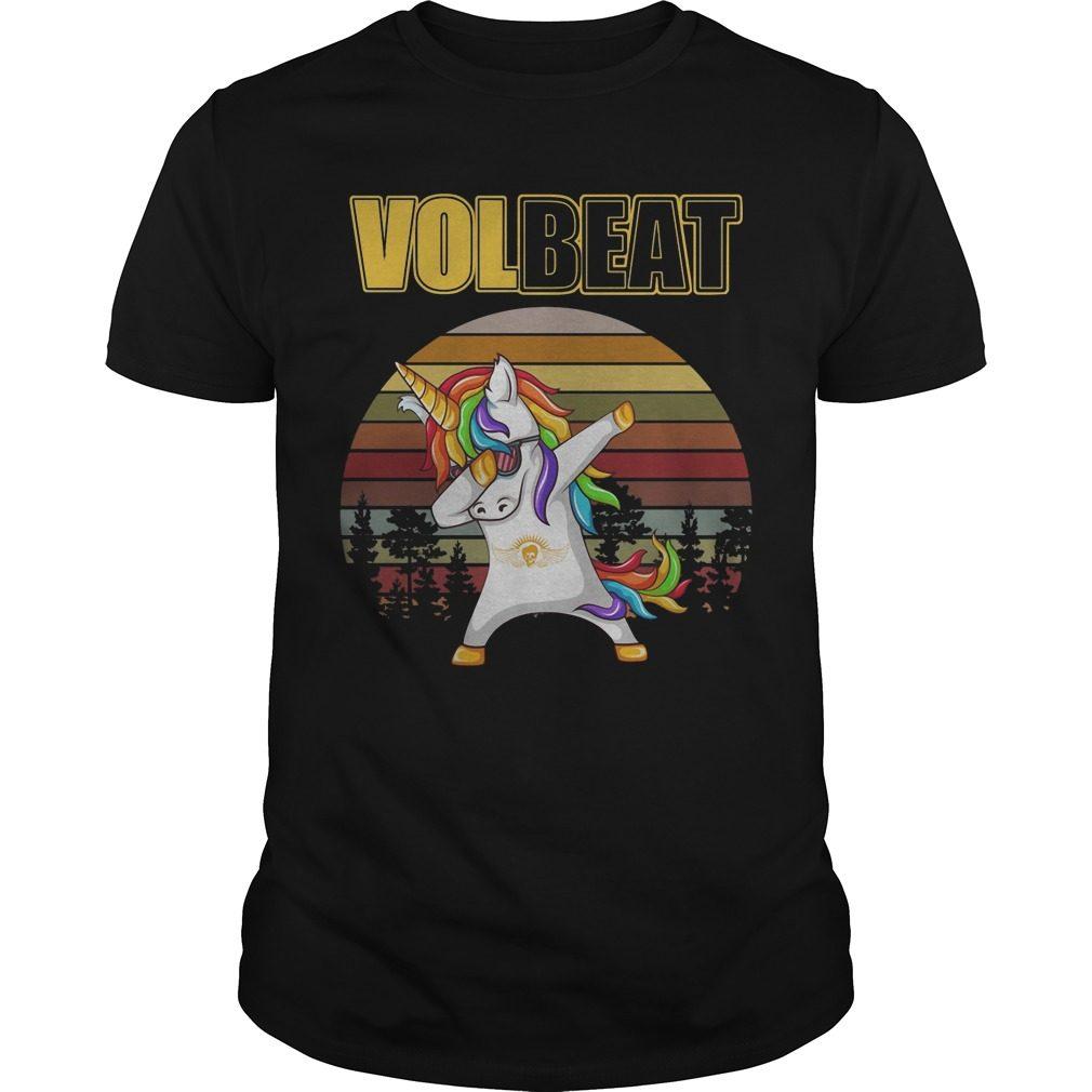 Unicorn Dabbing volbeat vintage shirt
