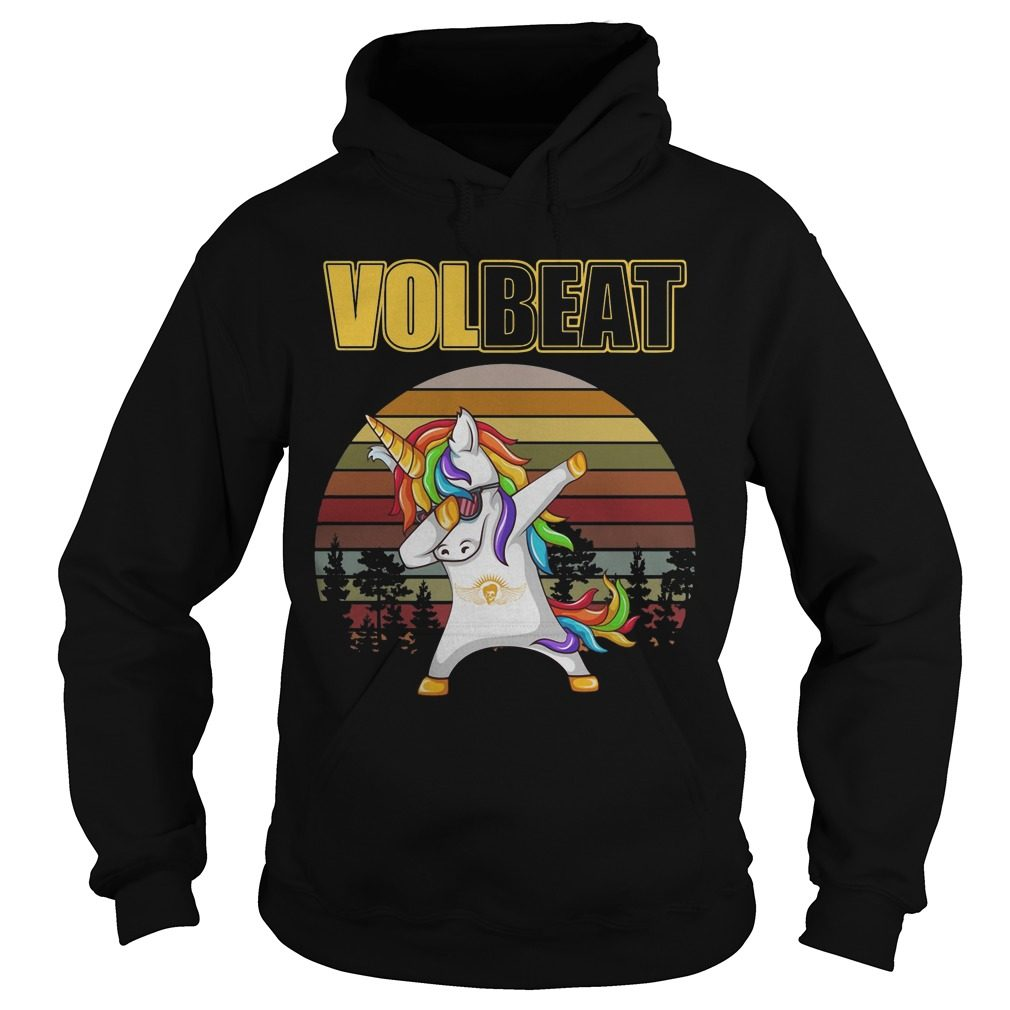 Unicorn Dabbing volbeat vintage shirt hoodie