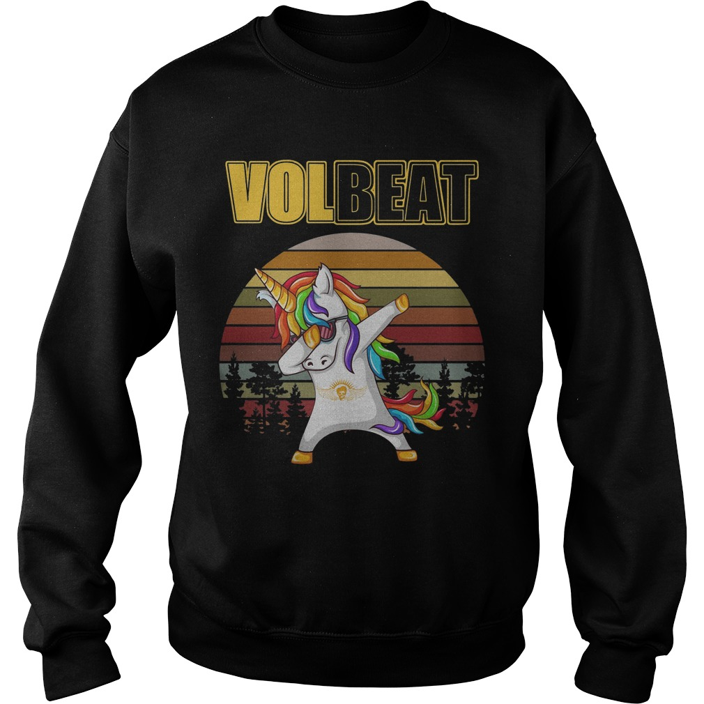 Unicorn Dabbing volbeat vintage shirt sweater