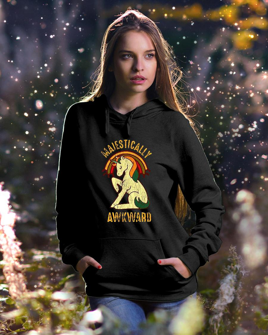 Unicorn Majestically Awkward Shirt hoodie unisex