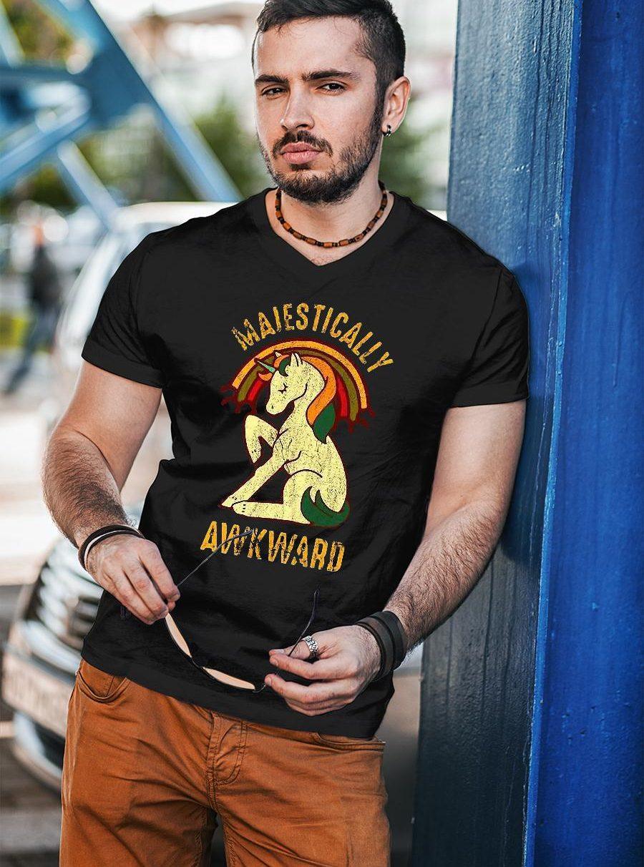 Unicorn Majestically Awkward Shirt unisex