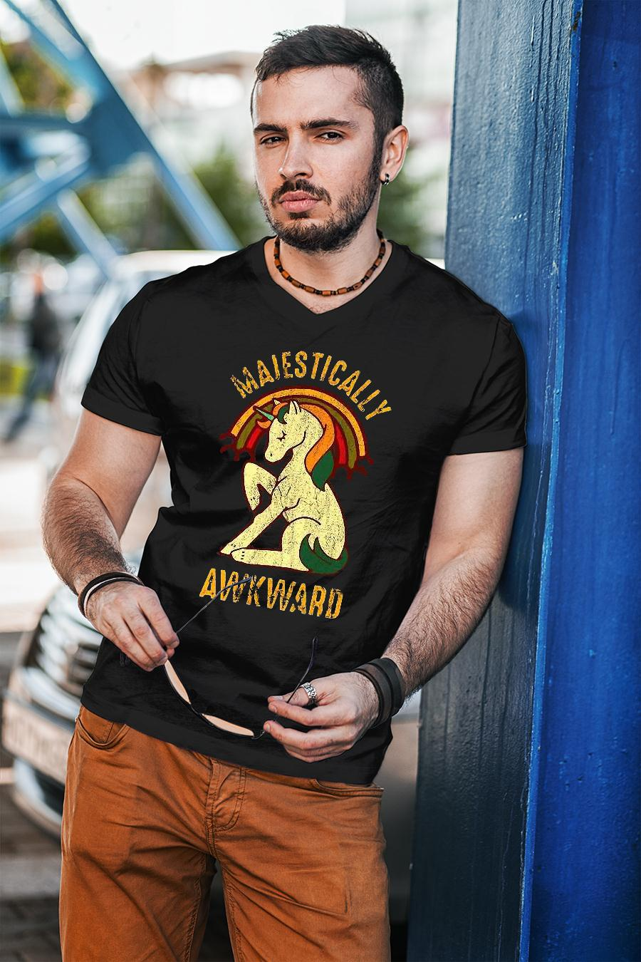 Unicorn Majestically Awkward Shirt unisex