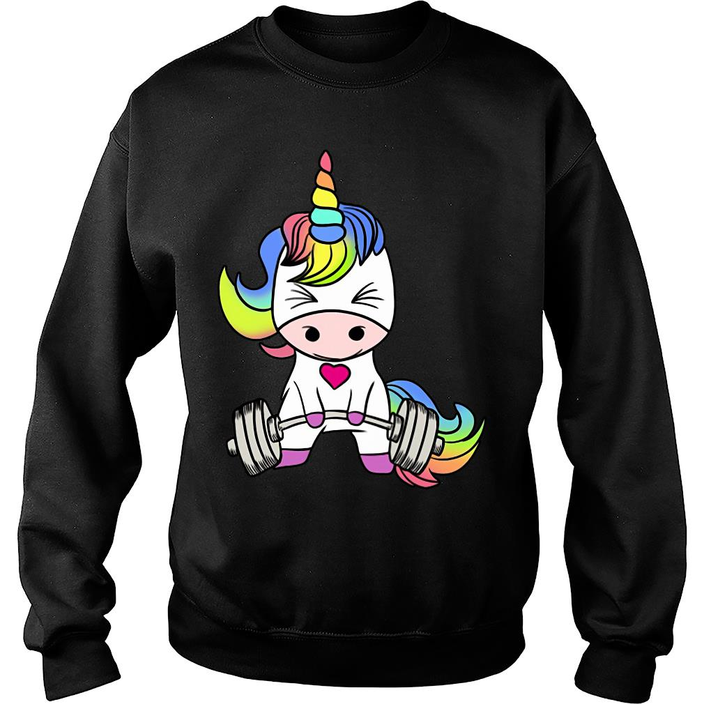 Unicorn Weightlifting Gym shirt sweater
