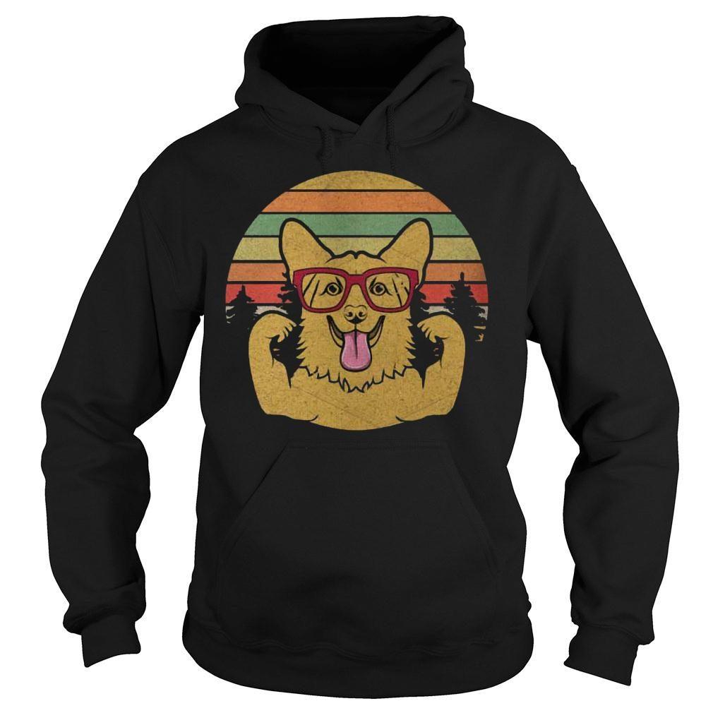 Vintage Retro Style Corgi T shirt hoodie