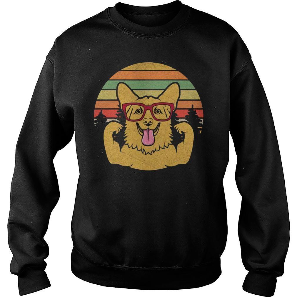 Vintage Retro Style Corgi T shirt sweater