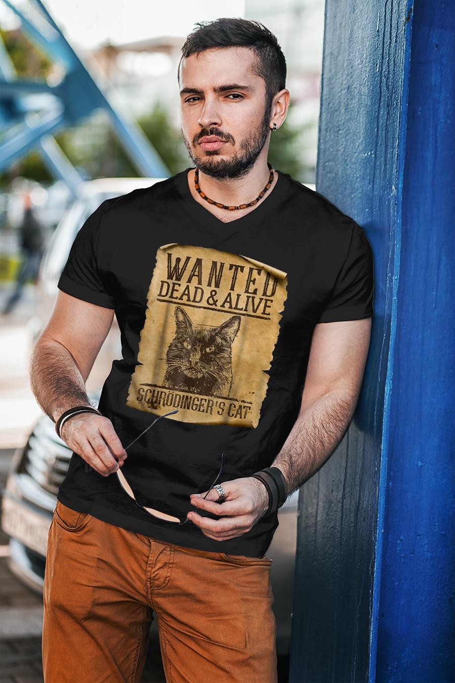 Wanted dead and alive Schrodinger's Cats shirt unisex