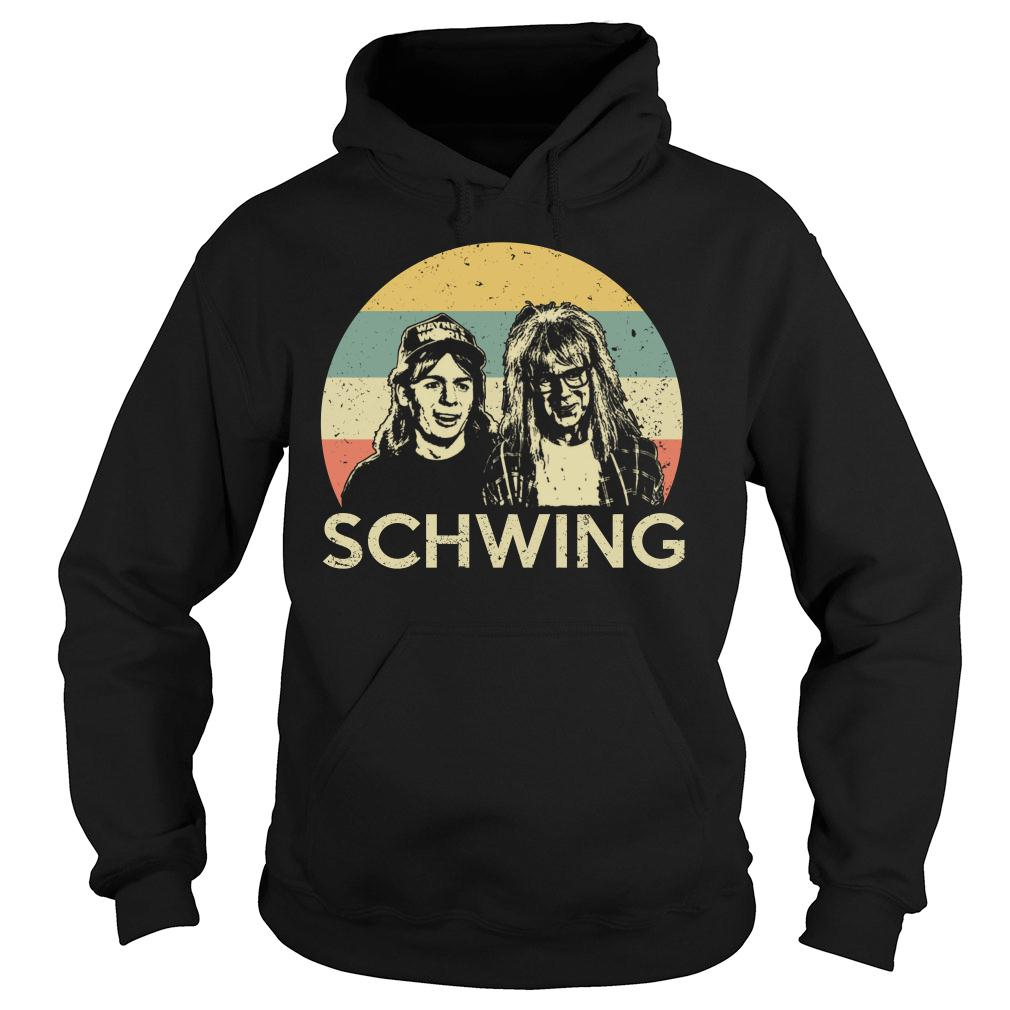 Wayne campbell and Garth algar Schwing shirt hoodie
