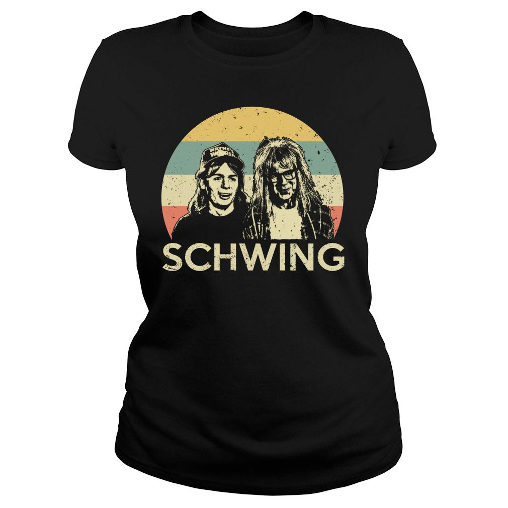 Wayne campbell and Garth algar Schwing shirt ladies tee