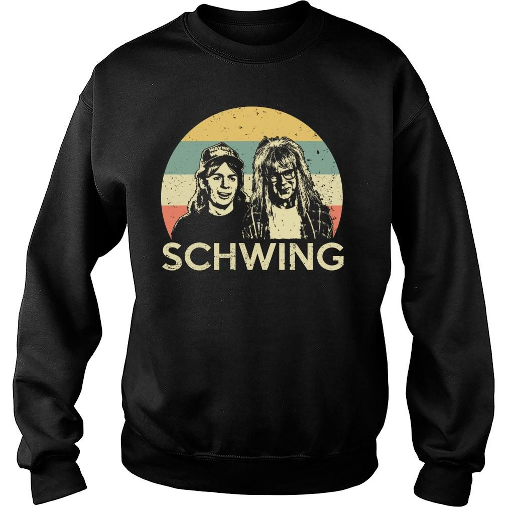 Wayne campbell and Garth algar Schwing shirt sweater