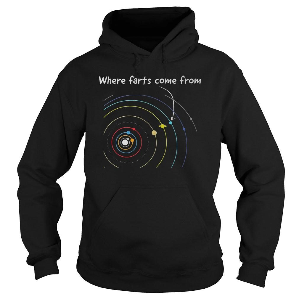 Where farts come from shirt hoodie