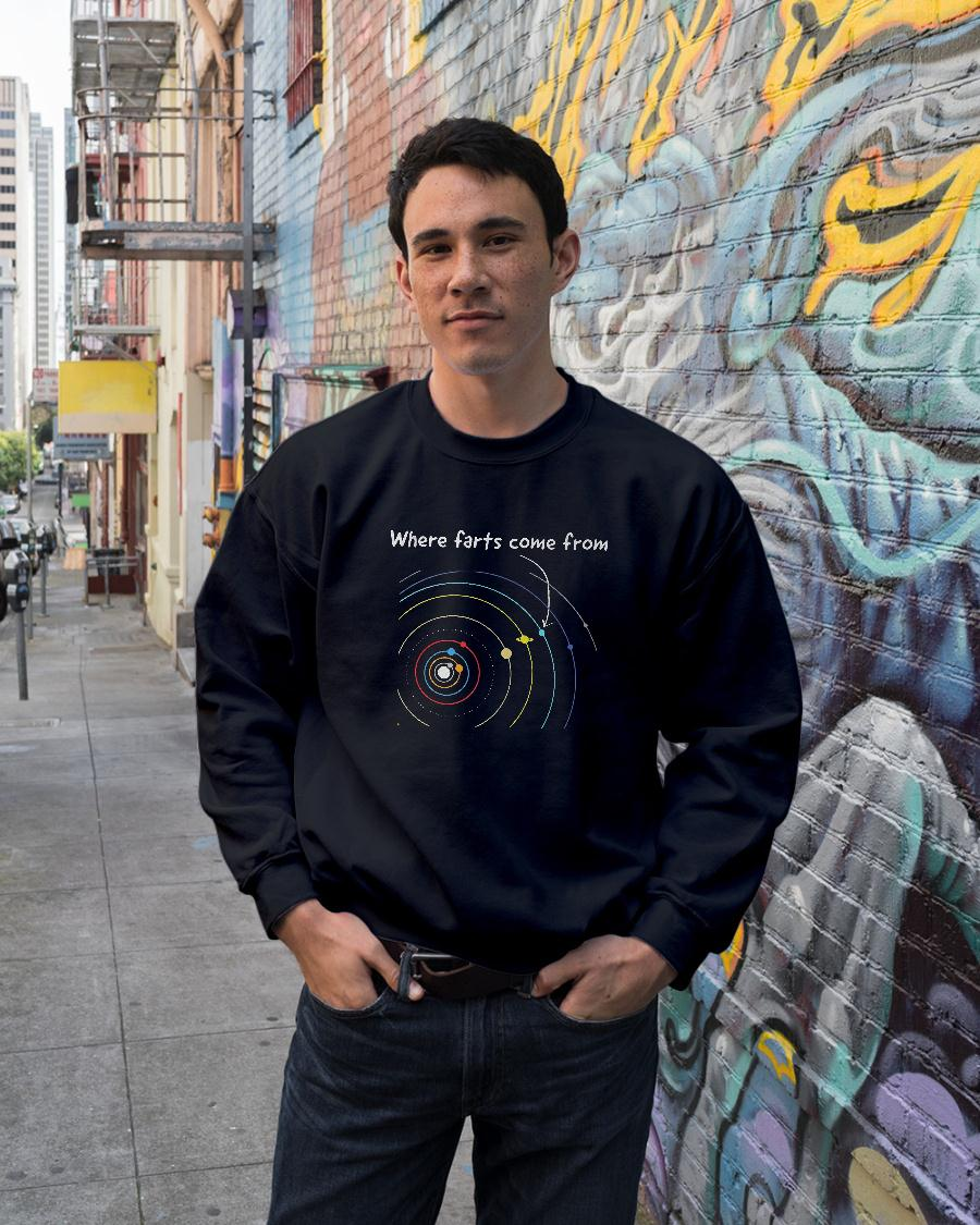 Where farts come from shirt sweater unisex