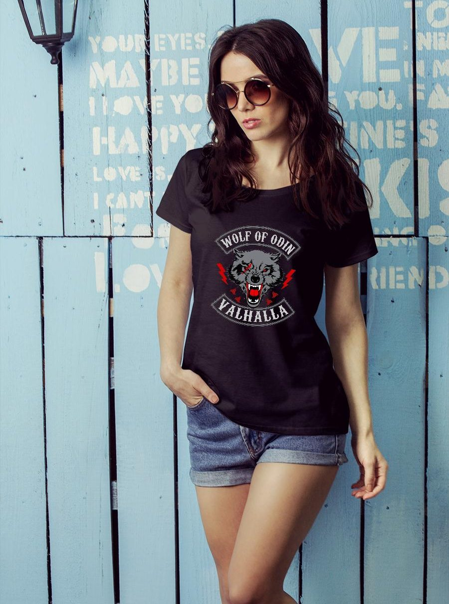 Wolf Of Odin Valhalla Shirt ladies tee official