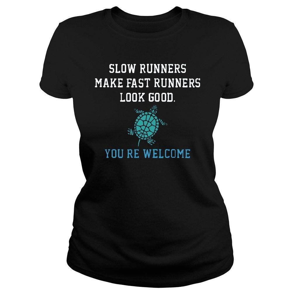 slow-runners-make-fast-runners-look-good-11 ladies tee